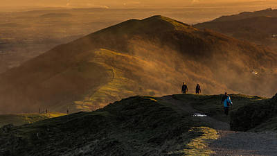 Across The Malverns At Sunset Poster by Chris Fletcher