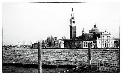 Across The Way In Venice Poster by John Rizzuto