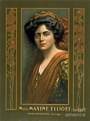 Actress Maxine Elliott 1905 Poster by Padre Art