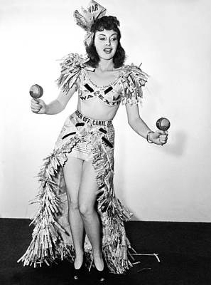 Actress Performs Wwii Dance Poster by Underwood Archives