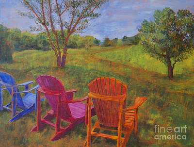 Adirondack Chairs In Leiper's Fork Poster by Arthur Witulski