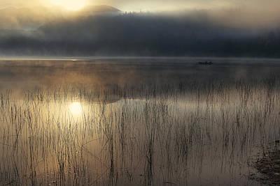 Adirondack Sunrise Poster by Magda  Bognar