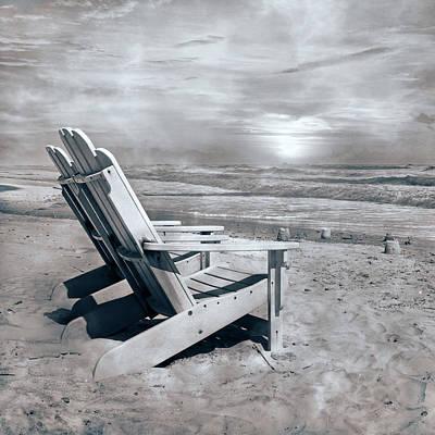 Adirondack Sunrise Topsail Island Poster by Betsy Knapp