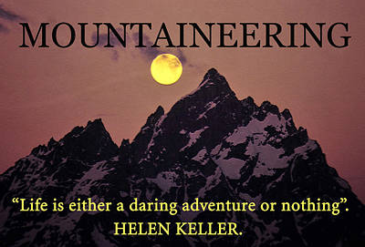Adventure Or Nothing Poster by David Lee Thompson