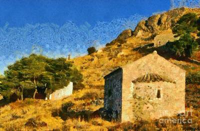 Paleochora In Aegina Island Poster by George Atsametakis