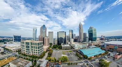 Aerial View Of Charlotte North Carolina Skyline Poster by Alex Grichenko