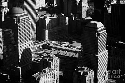 Aerial View Of Ground Zero Liberty Plaza Taken From Helicopter New York City Poster by Joe Fox