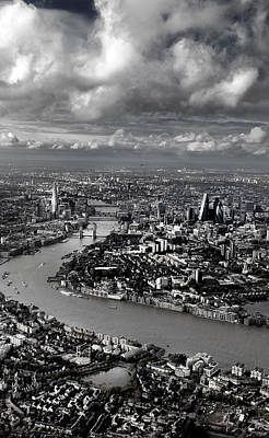 Aerial View Of London 4 Poster by Mark Rogan