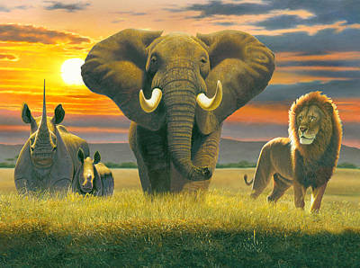 Africa Triptych Variant Poster by Chris Heitt