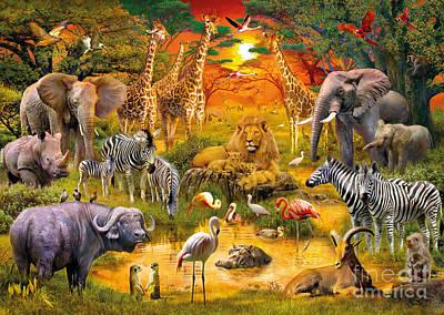 African Harmony Poster by Jan Patrik Krasny
