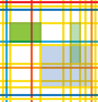 After Mondrian Poster by Gary Grayson