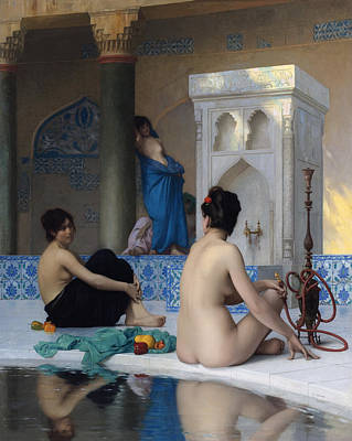 After The Bath Poster by Jean-Leon Gerome