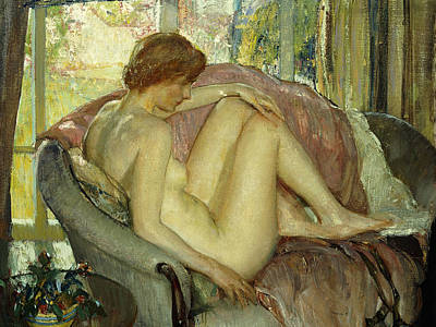 After The Morning Bath Poster by Richard Edward Miller