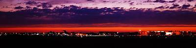 After The Sunset At Gerald R Ford Airport Poster by Rosemarie E Seppala