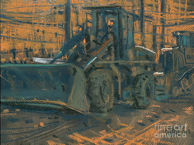 Bull Dozer Poster by Donald Maier
