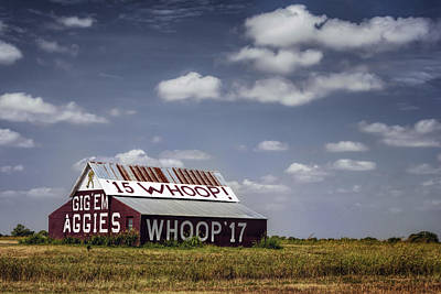 Aggie Barn Poster by Joan Carroll