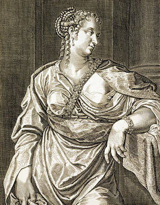 Agrippina Wife Of Tiberius Poster by Aegidius Sadeler or Saedeler