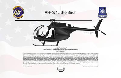 Ah-6j Little Bird Night Stalkers Poster by Arthur Eggers