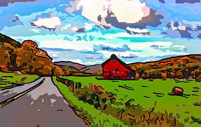 Ah...west Virginia Line Art Poster by Steve Harrington