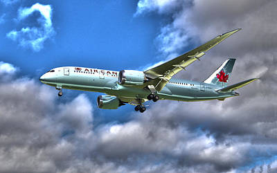 Air Canada Boeing 787 Dreamliner 2 Poster by Alex Pyro