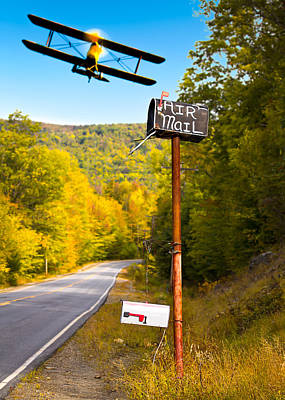 Air Mail Delivery Maine Style Poster by Bob Orsillo