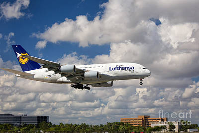 Airbus A-380-800 Lufthansa Poster by Rene Triay Photography