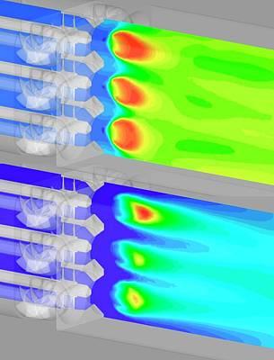 Aircraft Fuel Injection Simulation Poster by Nasa/glenn (kumud Ajmani, Jeffrey Moder)