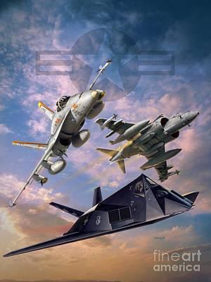 Airpower Over Iraq Poster by Stu Shepherd
