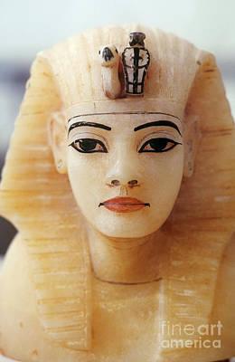 Alabaster Head Of King Tutankhamun Poster by John G. Ross