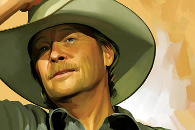 Alan Jackson Artwork Poster by Sheraz A