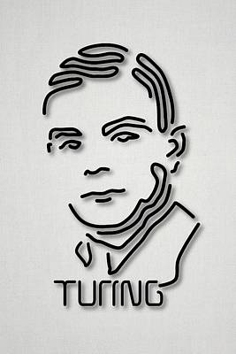 Alan Turing Poster by Ramon Andrade 3dciencia