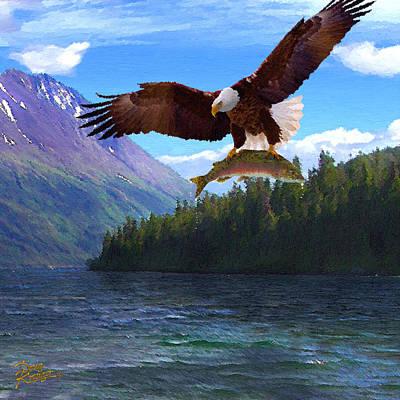Alaska Fly Fishing Poster by Doug Kreuger