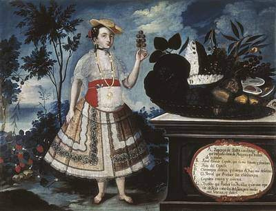 Alban, Vicente 18th C.. A Young Woman Poster by Everett