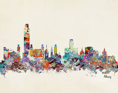 Albany New York Skyline Poster by Bri B
