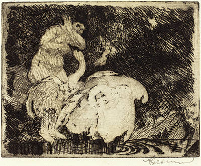 Albert Besnard, Leda Bathing Léda Au Bain Poster by Quint Lox