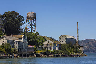 Alcatraz Dock And Water Tower Poster by John McGraw
