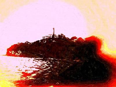 Alcatraz Island Vintage Poster by Daniel Janda