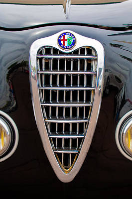 Alfa Romeo Milano Grille Poster by Jill Reger