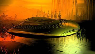 Alien Arrival Poster by Christian Simonian