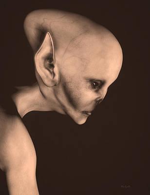 Alien Portrait  Poster by Bob Orsillo