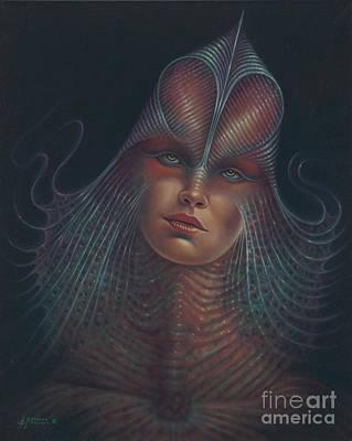 Alien Portrait Il Poster by Ricardo Chavez-Mendez