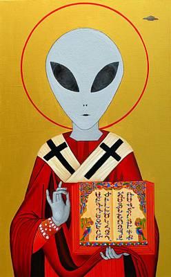 Alien Saint Poster by Abo  Art