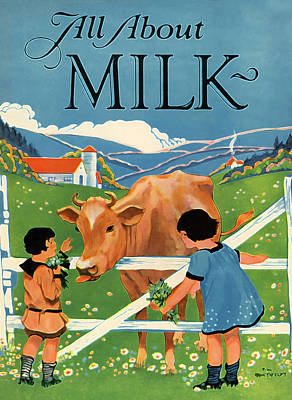 All About Milk Poster by The  Vault - Jennifer Rondinelli Reilly