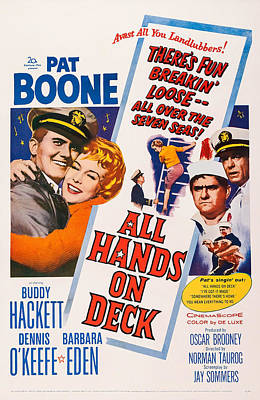 All Hands On Deck, L-r Pat Boone Poster by Everett