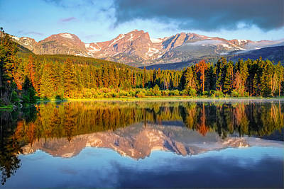 All Is Calm - Rocky Mountain National Park Poster by Gregory Ballos