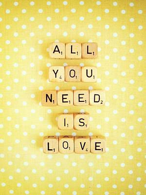 All You Need Is Love Poster by Mable Tan