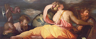 Allegory Of Geography Poster by Giorgio Vasari