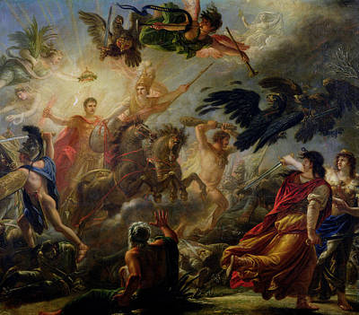Allegory Of The Battle Of Austerlitz, 2nd December 1805 Oil On Canvas Poster by Antoine Francois Callet