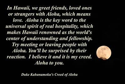 Aloha To You Poster by Pharaoh Martin