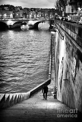 Along The Seine Poster by John Rizzuto